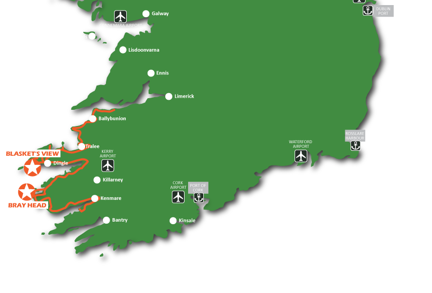 Map Of Kerry Wild Atlantic Way Wild Atlantic Way Ireland Map And Guide