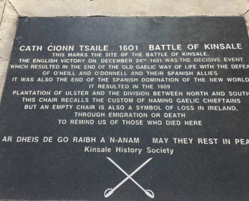 Stone of Destiny Chair Site of Battle of Kinsale
