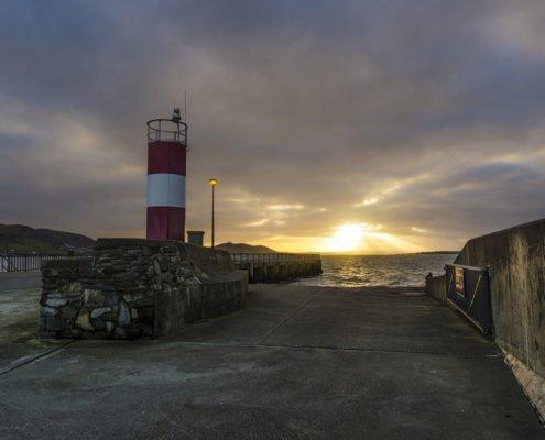 Lighthouse Buncrana Pier on Wild Atlantic Way Donegal