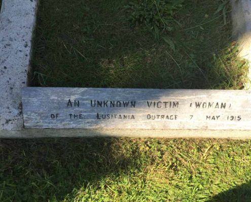 Grave of unknown woman from Lusitania Sinking