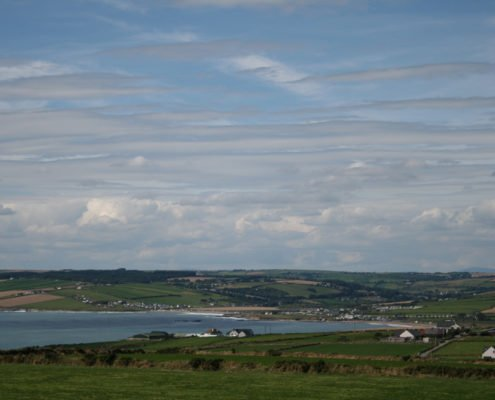 View of countryside from Old Head of Kinsale Signal Tower 1