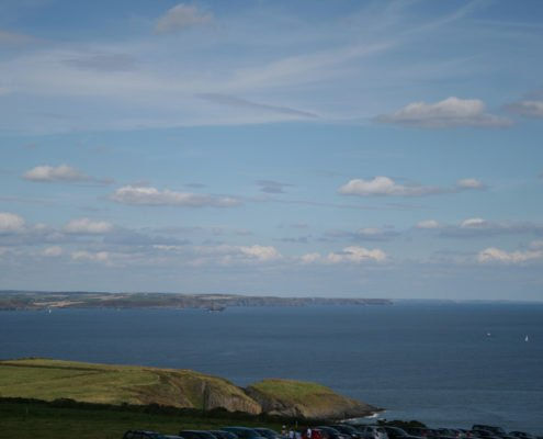 View of countryside from Old Head of Kinsale Signal Tower 3