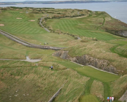 View of Old Head of Kinsale golf course from lighthouse -1