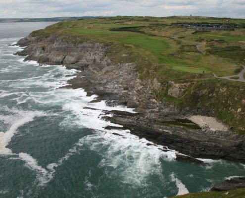 View of Old Head of Kinsale golf course from lighthouse - 2