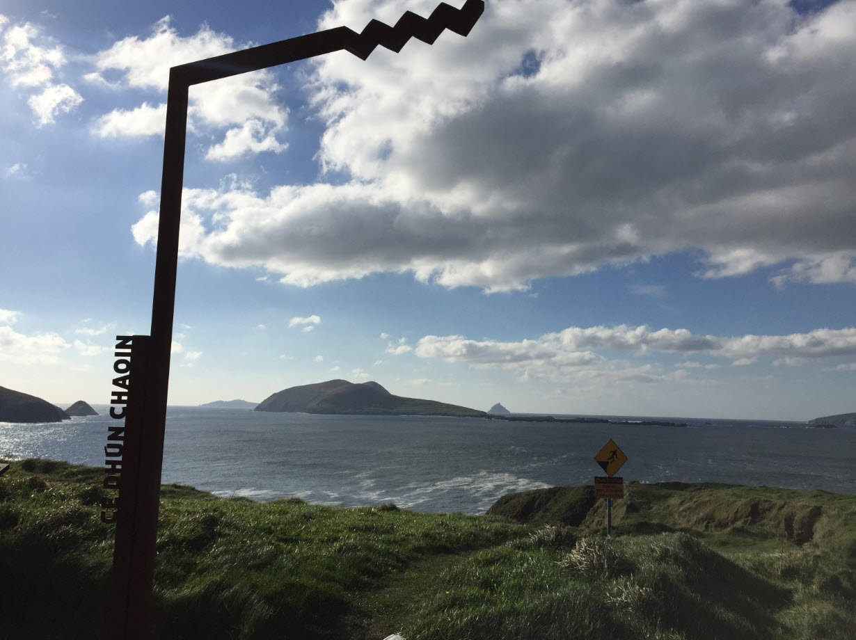 Wild Atlantic Way Discovery Points Signpost at Dunquinn
