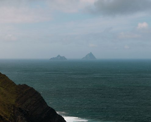 Skellig Islands view from Kerry Cliffs