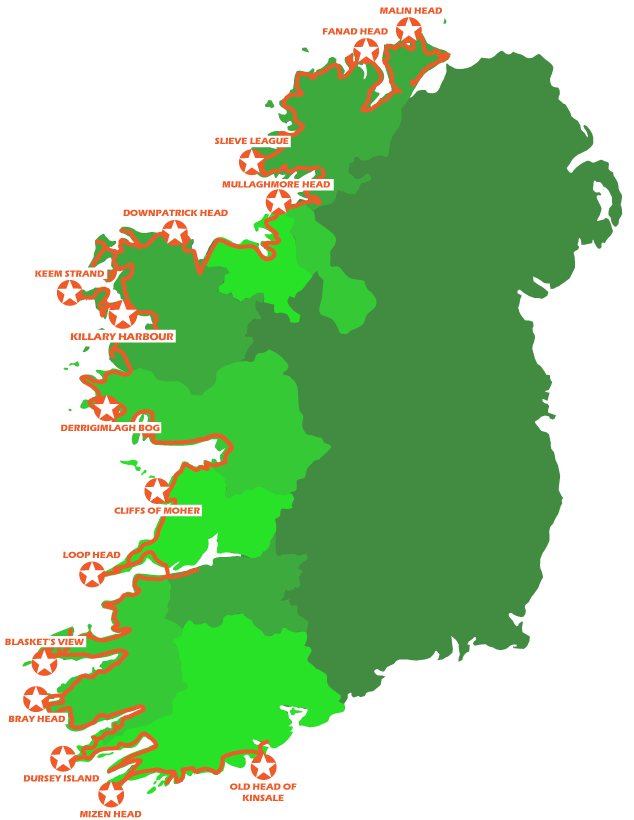 wild atlantic way route map